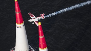 Paul Bonhomme of Great Britain performs during the second stage of the Red Bull Air Race World Championship in Chiba, Japan on May 17, 2015.