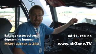 Exkurze testovacím Airbusem A-380