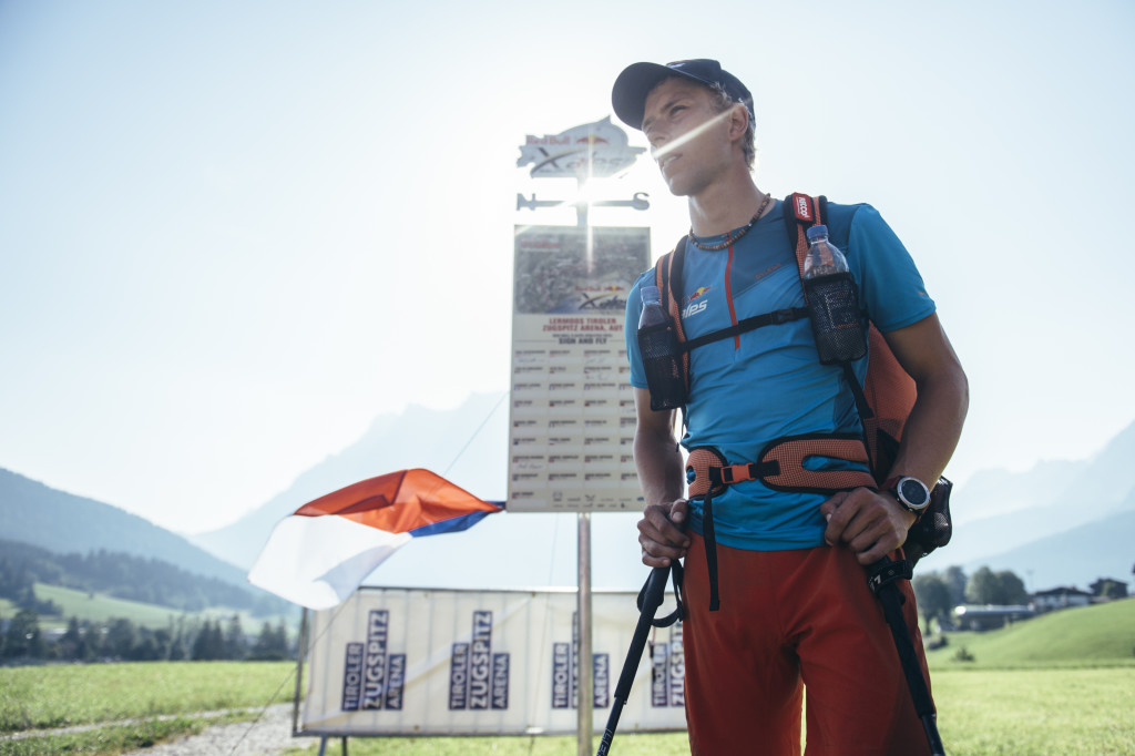 Stanislav Mayer (CZE) performs during the Red Bull X-Alps at Lermoos, (turn point 4) Austria on 7th July 2015