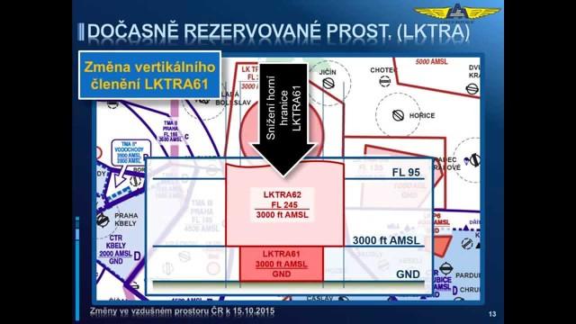 Piloti pozor! Ode dneška platí nové rozdělení vzdušného prostoru ČR!