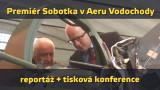 VIDEOREPORT: Premiér Sobotka navštívil AERO Vodochody