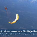 Světový rekord pro českého akrobata Ondřeje Procházku!