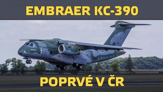 VIDEO: Embraer KC-390 poprvé v České republice!