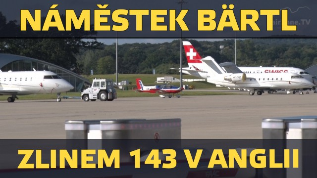 Český náměstek českým letadlem na britské airshow