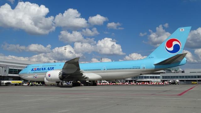 B747-8 Korean Air v Praze