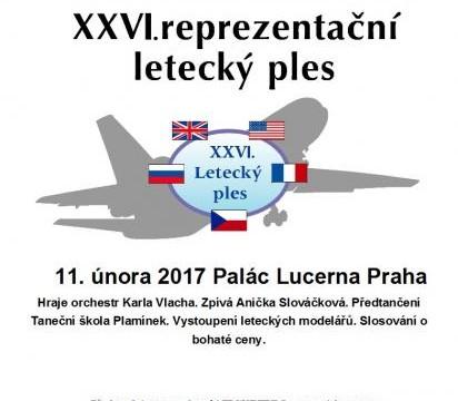26. reprezentační letecký ples v sobotu 11. února v Lucerně