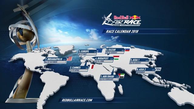 Red Bull Air Race zavítá v roce 2018 poprvé do Francie. Dočkáme se i prvního čínského závodu?