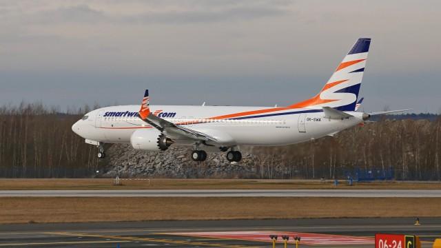 Travel Service přezbrojuje. První Boeing 737 MAX 8 přistál 31. 1. 2018 v Praze