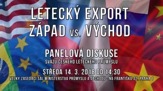Letecký export – Západ vs. Východ (panelová diskuse SČLP)
