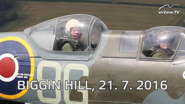 Emil Boček po 70 letech ve Spitfiru (Expedice Biggin Hill 2016)