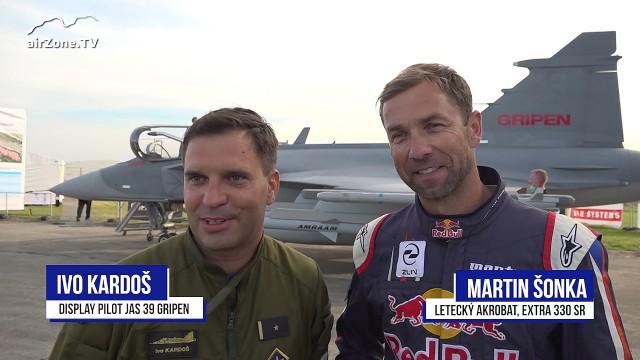 Ivo Kardoš a Martin Šonka o společném létání JAS 39 Gripen a Extra 330 SR