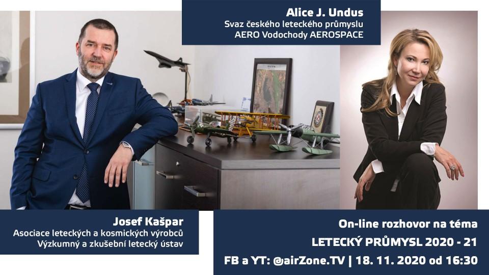 Letecký průmysl 2020 – 21. Rozhovor s Alicí Undus a Josefem Kašparem