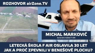 Letecká škola F AIR oslavila 30. narozeniny a v Benešově mají zpevněnou dráhu