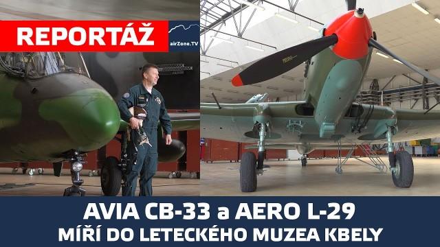 Avia CB-33 a Aero L-29 Delfín míří do Leteckého muzea ve Kbelích